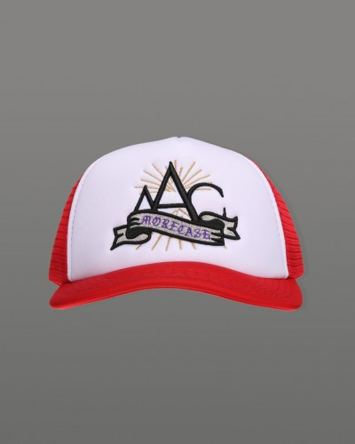 AAC RED EMBROIDERY TRUCKER CAP
